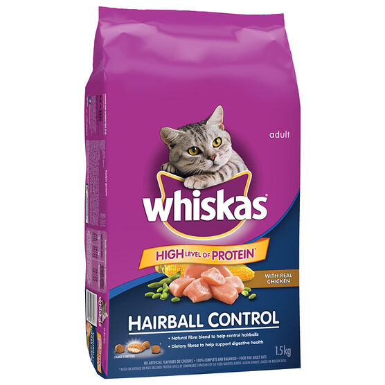 Whiskas Hairball Control Cat Food - 1.5kg
