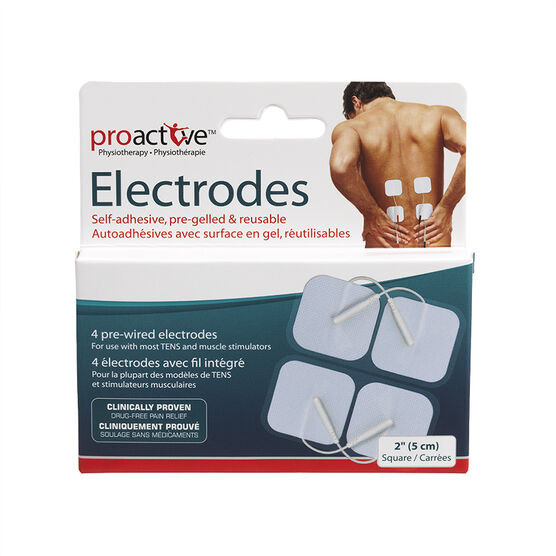 ProActive Self Adhesive Square Electrodes - 5cm - 4's