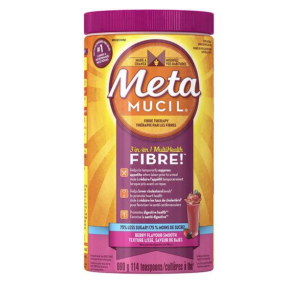 Metamucil 3in1 MultiHealth Fibre Smooth - Berry - 660g