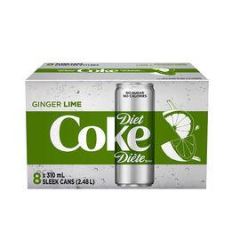 Diet Coke - Ginger Lime - 8 x 310ml