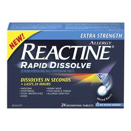 Reactine Allergy Rapid Dissolve Extra Strength - Mixed Berry - 24's