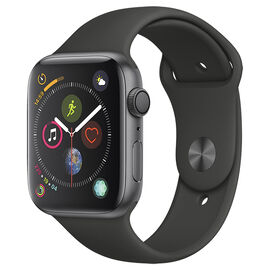 Apple Watch Series 4 - GPS - 44mm - Space Grey/Black Sport Band - MU6D2VC/A