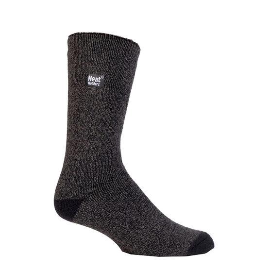 Heat Holders Men's Lite Twist Crew Sock - Grey/Black