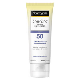 Neutrogena Sheer Zinc Mineral Sunscreen - SPF50 - 88ml