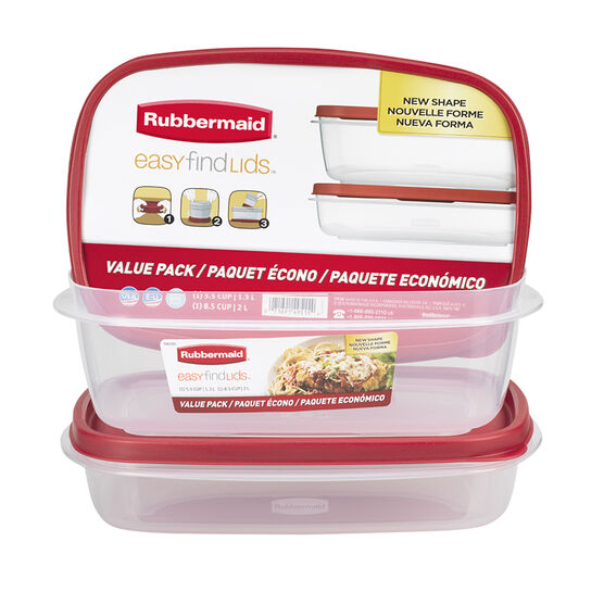 Rubbermaid Easy Find Lid Value Pack