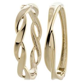 Dash of Gold Twisted Bangle Bracelet Set - Gold Tone