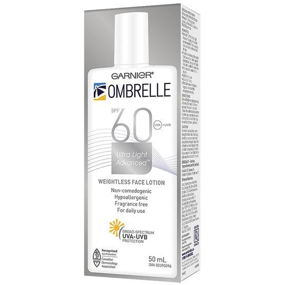 Ombrelle Face Ultra Fluid Lotion - SPF 60 - 50ml
