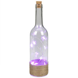 London Drugs Glass Bottle Lamp - 7.6 x 29.7cm