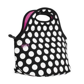 Built NY Gateway Lunch Bag - Black and White Polka Dot