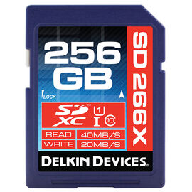 Delkin 256GB SDXC 163X UHS I Memory Card