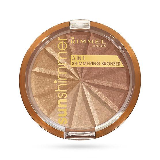 Rimmel Sunshimmer 3-in-1 Shimmering Bronzer - Gold Princess