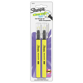 Sharpie Clear View Hilighter - Yellow - 2 Pack