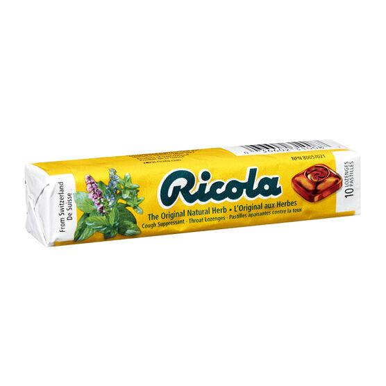 Ricola Original Natural Herb Throat Lozenge - 10's