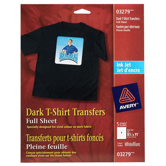 dark t shirt transfers