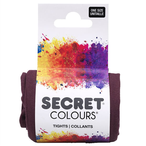 Secret Colours Tights - Wine - One Size
