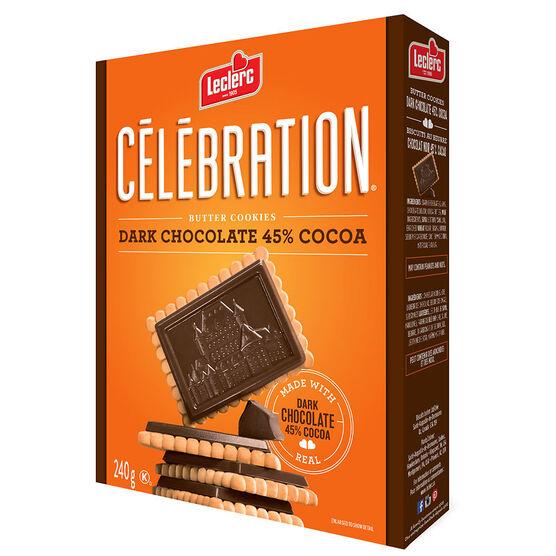 Leclerc Celebration Dark Chocolate Butter Cookies- 240g