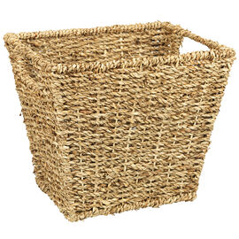 London Drugs Seagrass Basket with Handle - Square - 20 x 20 x 24cm