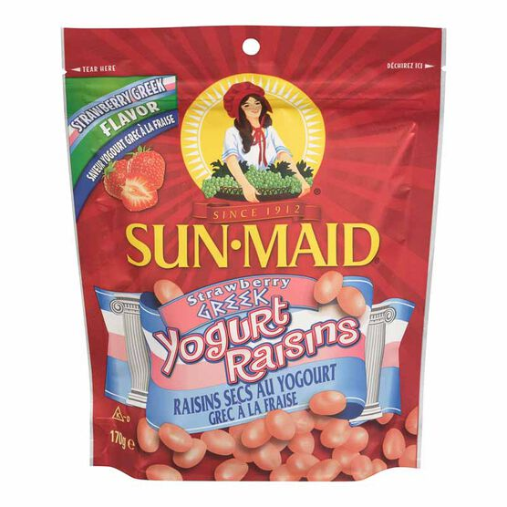 Sun-Maid Raisins - Strawberry Greek Yogurt - 170g