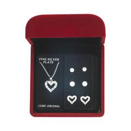Danecraft Cubic Zirconia Jewelry Box Set - Heart