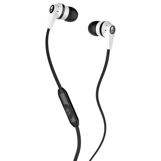 Skullcandy Ink'd 2.0 Earbuds With Mic - White/Black - S2IKFY074