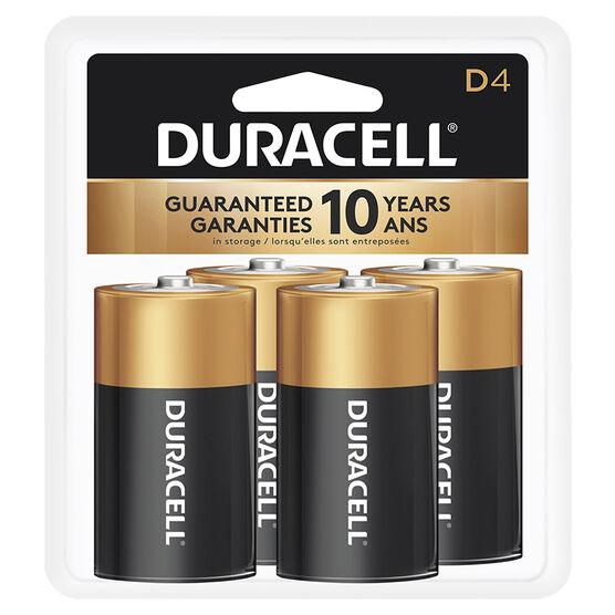 Duracell CopperTop D Alkaline Batteries - 4 pack