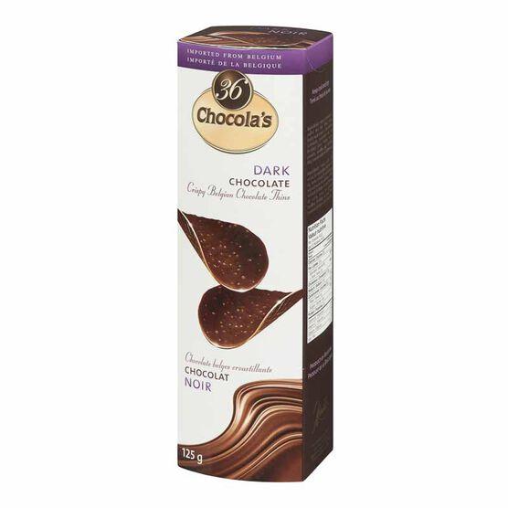Chocola's Crispy Belgian Chocolate Thins - Dark Chocolate - 125g