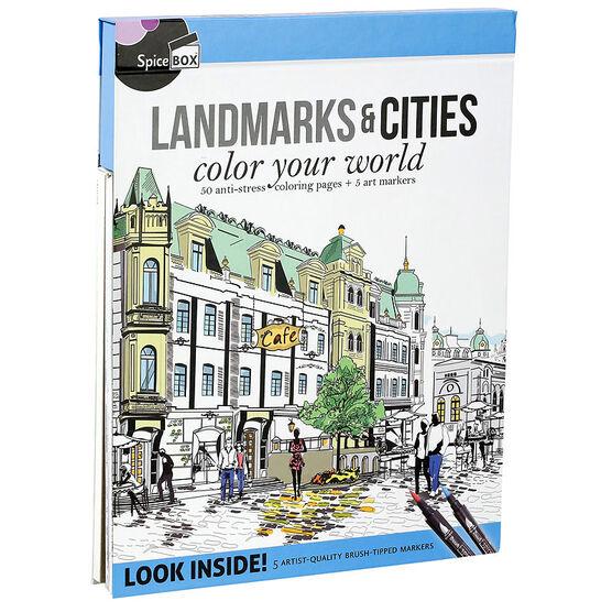 Spicebox Landmarks & Cites Colouring Book