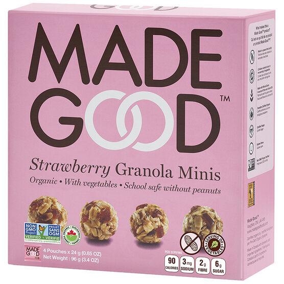 Made Good Granola Minis - Strawberry - 4 x 24g