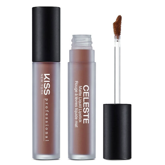 Kiss Pro Celeste Matte Liquid Lipstick - Peanut Brittle