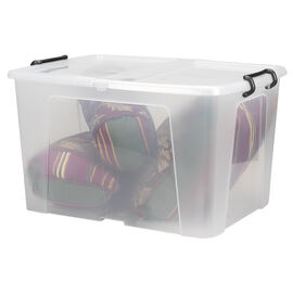 Strata Smart Storemaster Box with Folding Lid and Clip Handles - 65L
