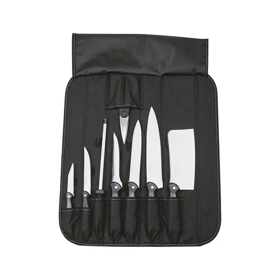 Studio Knife Set with Folding Wrap - 9 piece