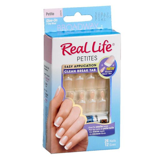 Broadway Nails Real Life Petite French Nails - Pink