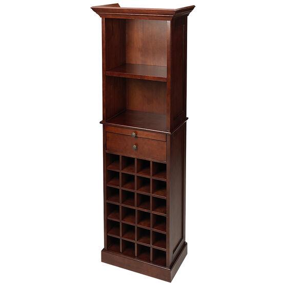 London Drugs Rubberwood Wine Cabinet - 62 x 40 x 178cm
