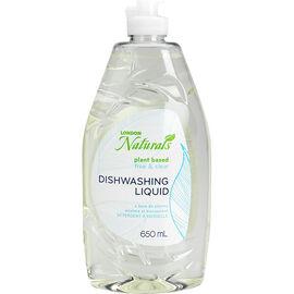 London Naturals Plant Based Dishwashing Liquid - Free & Clear - 650ml