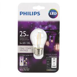Philips LED A15 Filament Bulb - Clear - 2w