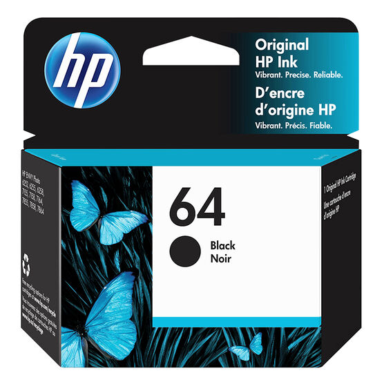 HP 64 Black Printer Ink Cartridge
