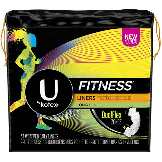 U by Kotex Fitness Liners - Long - 64's