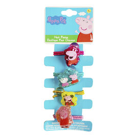 Peppa Pig 4 Hair Elastics with Knockers - 4 pack