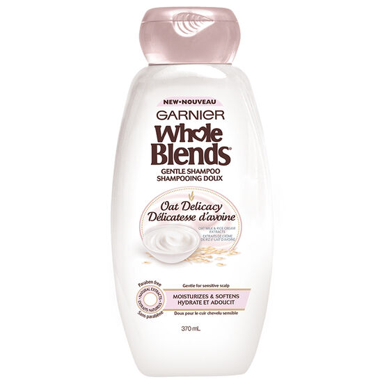 Garnier Whole Blends Gentle Shampoo - Oat Delicacy - 370ml