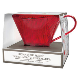 Melitta Pour Over Coffee Maker - Red