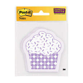 "3M Post It Cupcake Sticky Notes - Assorted - 3"" x 3"""