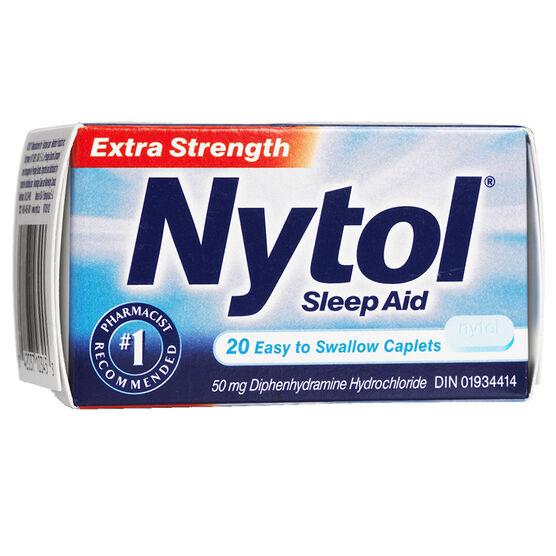 Nytol Extra Strength Sleep Aid Caplets - 50mg - 20's