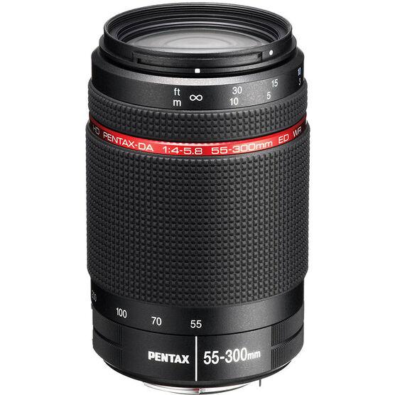 Pentax HD DA 55-300mm F4-5.8 ED WR Camera Lens - Black - 22270