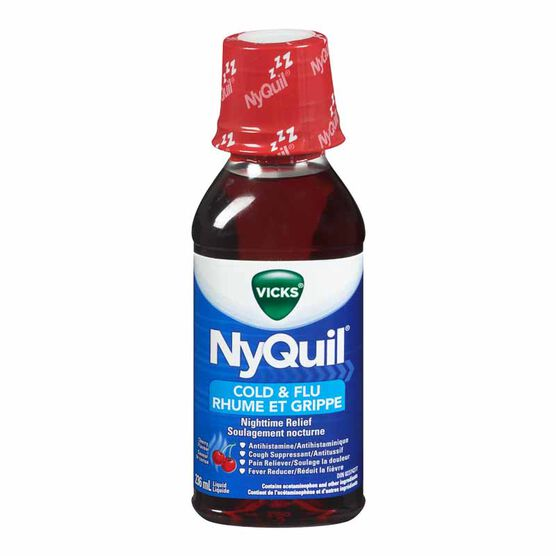 Vicks Nyquil Liquid for Cold and Flu - Cherry - 236ml