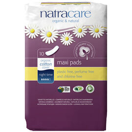 Natracare Night-Time Pads - 10's