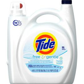 Tide Free & Gentle HE Liquid Laundry Detergent - Perfume Free - 4.43L/96 use