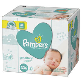 Pampers Wipes Sensitive - Unscented - 336's