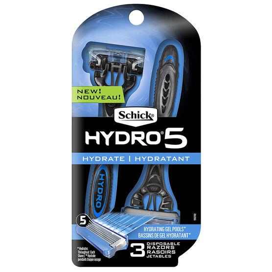Schick Hydro 5 Disposable Razors - 3's