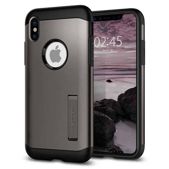 Spigen Slim Armor Case for iPhone X - Gunmetal - SGP057CS22135