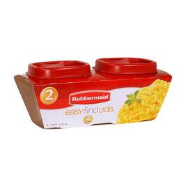 Rubbermaid Easy Find Lid Square Food Storage - 2 pack - 118ml